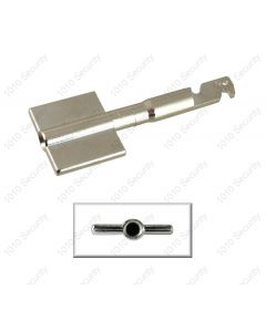 AGA Detachable key bit blank for up to 11 lever locks - Symmetrical profile