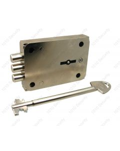 AGA 231 Class A/1 8-lever 3 steel bolt lock with 2 x keys