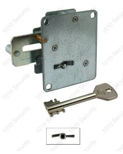 AGA 242 double throw lock with 2 x 70mm - Asymmetrical profile piped keys