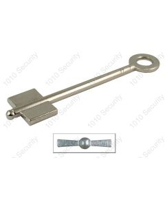 4.5 gauge double bitted pin key blank to fit Chatwood Milner locks