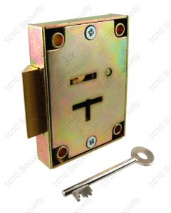 CT12 7 Lever post office lock with 2 x 42mm keys - Slam lock