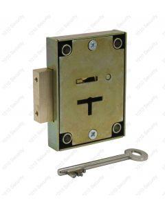 CT12 7 lever post office lock with 2 x 42mm keys - Deadbolt