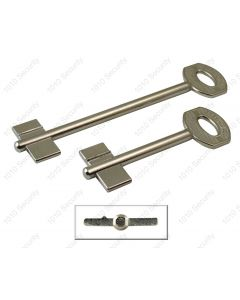 Juwel double bitted 6 gauge key blank