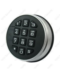 La Gard 3000 Satin chrome non-rotating keypad (Battery box not required)