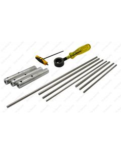 Complete Set of Titanium Punches with Handles and Holder