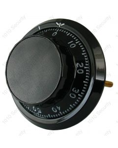 Sargent and Greenleaf dial and ring - Black 114mm spindle