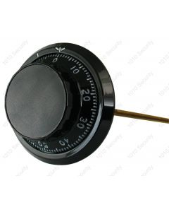 Sargent and Greenleaf extra long dial and ring - Black 381mm spindle