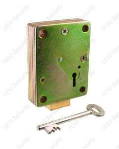 Walsall S1771-96 7 lever down-shoot safe lock with 2 x 74mm keys (overall length)