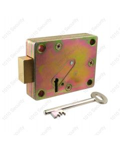 Walsall S1772-96 7 lever side-shoot safe lock with 2 x 74mm keys (overall length)