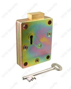 Walsall S1773-96 7 lever up-shoot safe lock with 2 x 74mm keys (overall length)